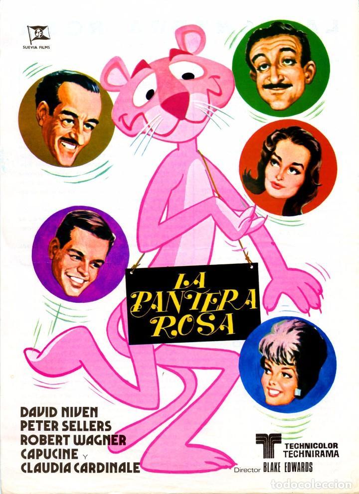 LA PANTERA ROSA (GUÍA ORIGINAL SIMPLE DE SU ESTRENO EN ESPAÑA) PETER SELLERS - SUEVIA FILMS (Cine - Guías Publicitarias de Películas )