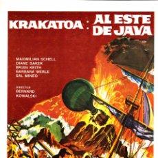 Cine: KRAKATOA: AL ESTE DE JAVA (GUÍA PUBLICITARIA ORIGINAL SIMPLE). MAXIMILIAN SCHELL. SAL MINEO. . Lote 84465320