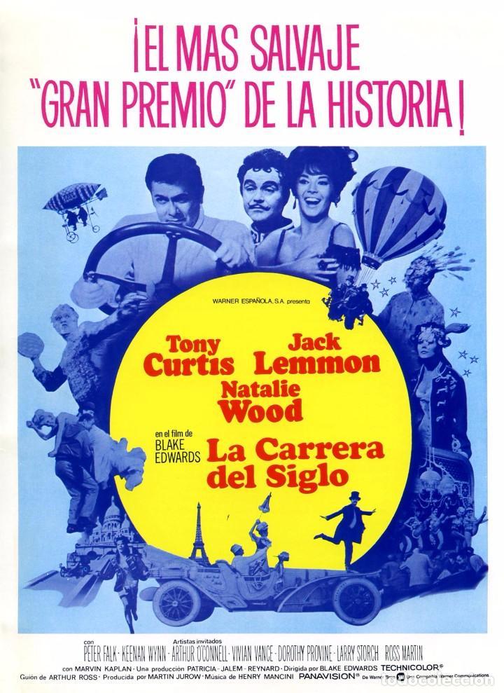 LA CARRERA DEL SIGLO (GUÍA ORIGINAL SIMPLE) TONY CURTIS - JACK LEMMON - NATALIE WOOD (Cine - Guías Publicitarias de Películas )