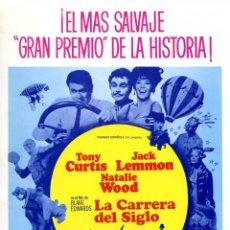 Cine: LA CARRERA DEL SIGLO (GUÍA ORIGINAL SIMPLE) TONY CURTIS - JACK LEMMON - NATALIE WOOD. Lote 160918313