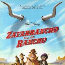 Cine: ZAFARRANCHO EN EL RANCHO (GUÍA PUBLICITARIA ORIGINAL DOBLE). WALT DISNEY. ANIMACION. 2004. Lote 84880828