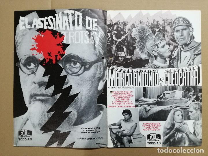 LISTA DE MATERIAL 1972.IZARO FILMS.MARCO ANTONIO ,TROSKY,BARBA AZUL,LA ISLA,KILL,LOS SECUACES... (Cine - Guías Publicitarias de Películas )