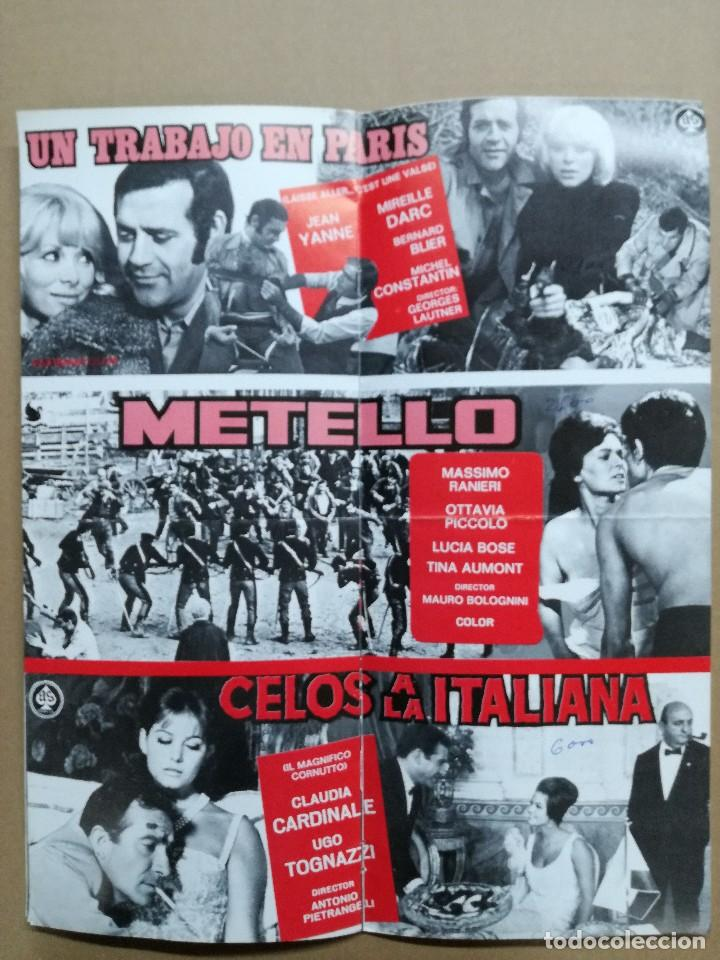 Cine: LISTA DE MATERIAL AS .1971.ANONIMO VENECIANO,MORIR DE AMOR,LOS VISITANTES DE LA NOCHE,GATO 9 COLAS.. - Foto 2 - 84917092