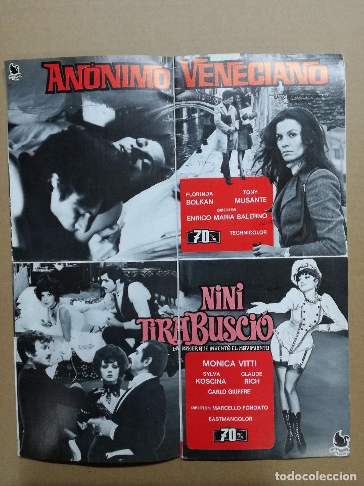 Cine: LISTA DE MATERIAL AS .1971.ANONIMO VENECIANO,MORIR DE AMOR,LOS VISITANTES DE LA NOCHE,GATO 9 COLAS.. - Foto 7 - 84917092