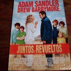 Cine: JUNTOS Y REVUELTOS - DREW BARRYMORE, ADAM SANDLER - DIR.FRANK CORACI - GUIA ORIGINAL WARNER AÑO 2014. Lote 194975166