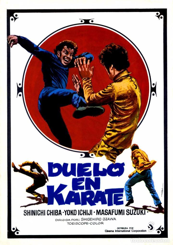 DUELO EN KARATE (GUÍA ORIGINA DOBLE DE SU ESTRENO EN ESPAÑA) ARTES MARCIALES (Cine - Guías Publicitarias de Películas )
