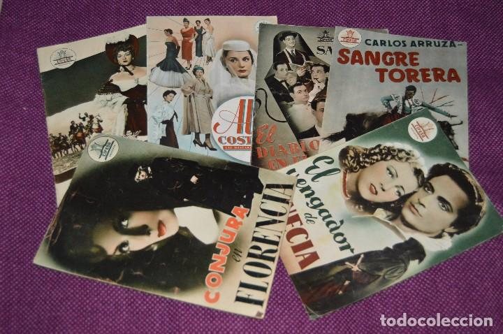 LOTE DE 6 GUÍAS PUBLICITARIAS DE PELÍCULAS ANTIGUAS - CIFESA - HUECOGRABADO FOURNIER - ¡HAZ OFERTA! (Cine - Guías Publicitarias de Películas )