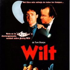 Cine: WILT (GUÍA PUBLICITARIA ORIGINAL SIMPLE). TOM SHARPE. Lote 85465872