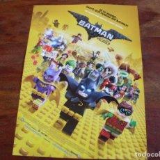 Cine: BATMAN LA LEGO PELICULA - DIR. CHRIS MCKAY - ANIMACION - GUIA ORIGINAL WARNER AÑO 2017. Lote 85486684