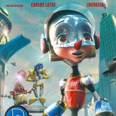 Cine: PINOCHO 3000 K (GUÍA PUBLICITARIA DOBLE ORIGINAL) ANIMACION. CARLOS LATRE, LUCRECIA. FILMAX. Lote 86458888
