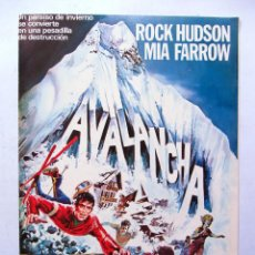 Cine: AVALANCHA 1978. GUÍA DOBLE ORIGINAL . ROCK HUDSON, MIA FARROW. Lote 86704960