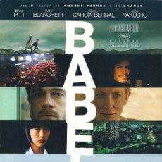 Cinema: BABEL (GUÍA PUBLICITARIA DOBLE ORIGINAL) BRAD PITT, CATE BLANCHETT. Lote 86772216