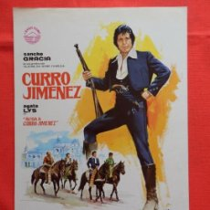 Cine: CURRO JIMENEZ, GUIA SENCILLA,EXCTE. ESTADO, SANCHO GRACIA AGATA LYS, 1978. Lote 87632776