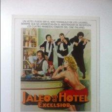 Cine: JALEO EN EL HOTEL EXCELSIOR - ADRIANO CELENTANO - ELEONORA GIORGO / CASTELLANO & PIPOLO - GUIA DOBLE. Lote 88326744