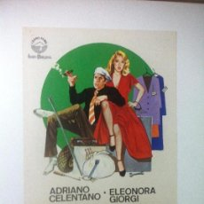 Cine: MANOS DE SEDA - ADRIANO CELENTANO - ELEONORA GIORGI / CASTELLANO Y PIPOLO - GUIA SENCILLA. Lote 88347776