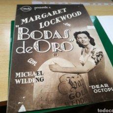 Cine: GUÍA DE LA PELÍCULA BODAS DE ORO. CON MARGRET LOCKWOOD. AÑOS 40. Lote 184844902