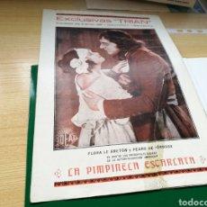 Cine: PROGRAMA GUÍA DE CINE MUDO LA PIMPINELA ESCARLATA. AÑOS 20. Lote 89398296