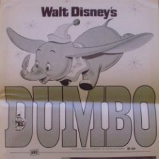 Cine: DUMBO/LEGEND OF LOBO PRESSBOOK '72 WALT DISNEY DOUBLE-BILL, ELEPHANTS & WOLVES!. Lote 89609248