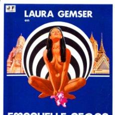 Cine: EMANUELLE NEGRA SE VA AL ORIENTE 1976(GUÍA ORIGINAL DOBLE CON FOTOS DE SU ESTRENO EN ESPAÑA). Lote 207112740