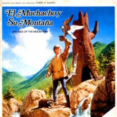 Cine: EL MUCHACHO Y SU MONTAÑA (GUÍA ORIGINAL DOBLE CON FOTOS DE SU ESTRENO EN ESPAÑA). Lote 90180336