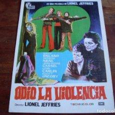 Cine: ODIO LA VIOLENCIA - JEAN PIERRE CASSEL, BRITT EKLAND - GUIA HISPAMEX AÑO 1973. Lote 90722035