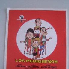 Cine: LOS PEDIGUEÑOS TONY LEBLANC GRACITA MORALES GUIA PUBLICITARIA ORIGINAL ESTRENO. Lote 91821245