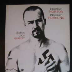 Cinéma: FOLLETO A4 DESPLEGABLE PROMOCIONAL AMERICAN HISTORY X EDWARD NORTON. Lote 92814715