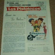 Cine: LOS PISTOLOCOS, GUIA DE 4 PG. CON SU PROGRAMA DE MANO-LEER DESCRIP. Y ENVIO. Lote 93083290