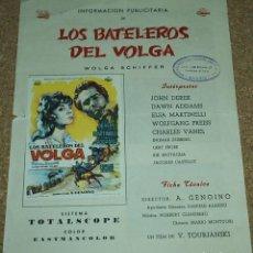 Cine: LOS BATELEROS DEL VOLGA, GUIA DE 4 PG. CON SU PROGRAMA DE MANO-LEER DESCRIP. Y ENVIO. Lote 93083355