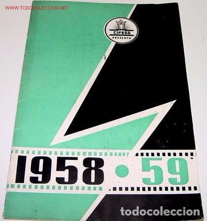 ANTIGUO CATALOGO DE CIFESA 1958 - 1959 ANTIGUO CATALOGO DE CIFESA 1958 - 1959 CON PELICULAS COMO : (Cine - Guías Publicitarias de Películas )