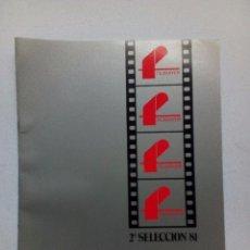 Cine: FILMAYER GUÍA CATÁLOGO 2ª SELECCIÓN 1981 CONTIENE 10 PELÍCULAS 12 PÁGINAS ORIGINAL ACARTONADA. Lote 93584470