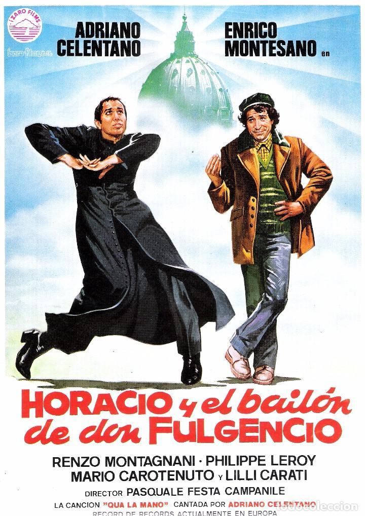 HORACIO Y EL BAILON DE DON FULGENCIO, GUIA ORIGINAL ESTRENO, ADRIANO CELENTANO (Cine - Guías Publicitarias de Películas )