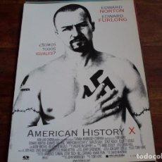 Cine: AMERICAN HISTORY X - EDWARD NORTON, EDWARD FURLONG, FAIRUZA BALK, STACY KEACH - GUIA. Lote 176861002