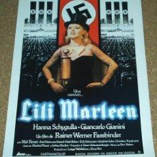 Cine: LILI MARLEEN - GUIA PUBLICITARIA DOBLE- ORIGINAL- VER FOTOS - LEER DESCRI.Y ENVIO. Lote 94458790