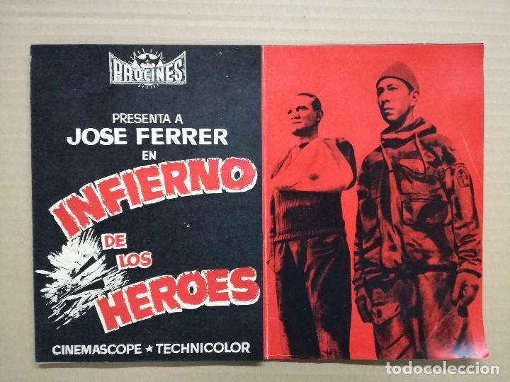 INFIERNO DE LOS HEROES - JOSE FERRER, TREVOR HOWARD - GUIA MUY RARA ORIGINAL (Cine - Guías Publicitarias de Películas )