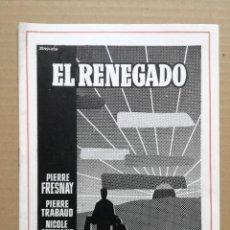 Cine: EL RENEGADO - PIERRE FRESNAY - FILMAX. Lote 96030187