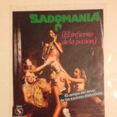 Cine: SADOMANIA.EL INFIERNO DE LA PASION-JESS FRANCO. Lote 96245319