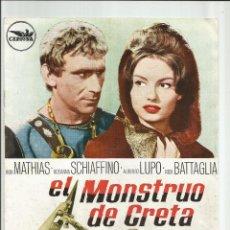 Cine: EL MONSTRUO DE CRETA BOB MATHIAS ROSANNA SCHIAFFINO PEPLUM GUIA ORIGINAL Q. Lote 96435671