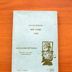 Cine: CATALOGO DE PELICULAS 1970, EMBAJADA DE FRANCIA, SERVICIO CULTURAL CINEMATECA, MADRID. Lote 97114487
