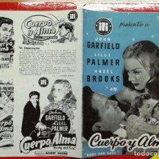 Cine: GUIA - IFI - CUERPO Y ALMA - 4 PAGS.. Lote 97227055