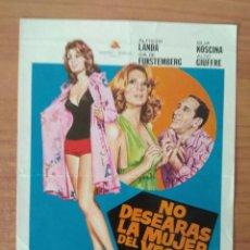 Cinéma: B-- GUIA DOBLE DE LA PELICULA---NO DESEARAS LA MUJER DEL VECINO. Lote 97229435