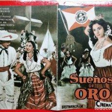 Cine: SUEÑOS DE ORO, LOLA FLORES, IMPECABLE GUÍA ORIGINAL SUEVIA 8 PÁGINAS. Lote 97233119