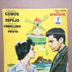 Cine: GUIA PUBLICITARIA, GUIA DE CINE, LA VIDA ES MARAVILLOSA, GERMAN COBOS, ELENA ESPEJO, GEVACOLOR,DOBL. Lote 97317343