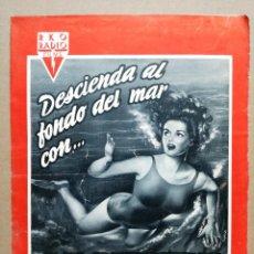 Cine: LA SIRENA DE LAS AGUAS VERDES JANE RUSSELL SUBMARINISMO GUIA ORIGINAL RKO RADIO ESTRENO. Lote 97321443