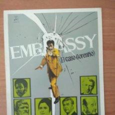 Cine: B1-- GUIA SIMPLE DE LA PELICULA--EMBASSY. Lote 97607419