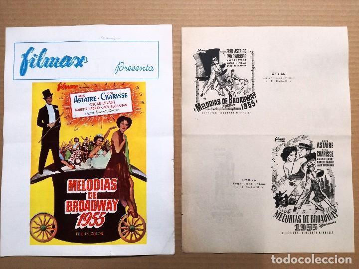 MELODIAS DE BROADWAY 1955 - GUIA DOBLE (Cine - Guías Publicitarias de Películas )