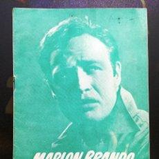 Cine: GUIA DE CINE TAMAÑO 245 X 170 8 H DOBLE CARA -LA LEY DEL SILENCIO-MARLON BRANDO-1ª VENECIA 1954. Lote 97989971
