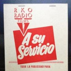 Cine: GUIA A SU SERVICIO RKO. FILON DE PLATA. Lote 97990443