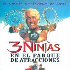 Cine: 3 NINJAS EN EL PARQUE DE ATRACCIONES. ARTES MARCIALES. KARATE, 3 PEQUEÑOS NINJAS, HULK HOGAN. Lote 98815915