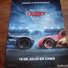 Cine: CARS 3 - DIR. BRIAN FEE - ANIMACION - GUIA ORIGINAL DISNEY PIXAR AÑO 2017. Lote 98887767